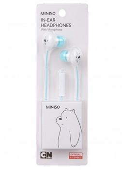 Наушники - вкладыши с микрофоном We Bare Bears (Blue)