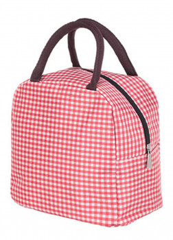 Сумка Lunch Simple Portable Plaid (Red)