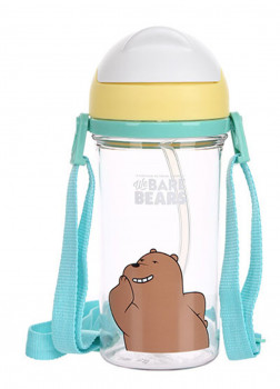 Бутылка с соломкой We Bare Bears Grizzly 400мл