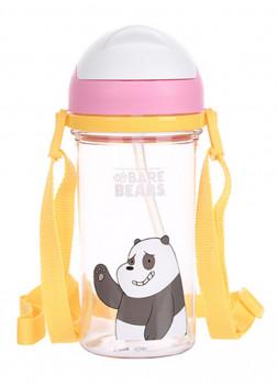 Бутылка с соломкой We Bare Bears Panda 400мл