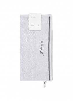 Полотенце для лица 2 шт серый